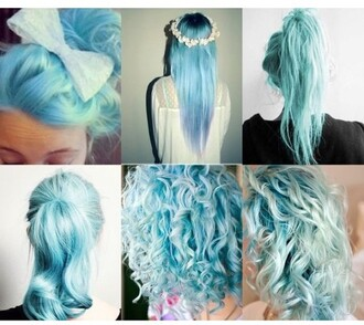 hair accessory dye hair dye blue mint dip dyed blue hair