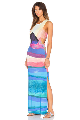 dress maxi dress maxi back blue