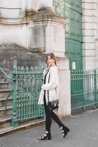 wish wish wish blogger cardigan top underwear jeans shoes bag