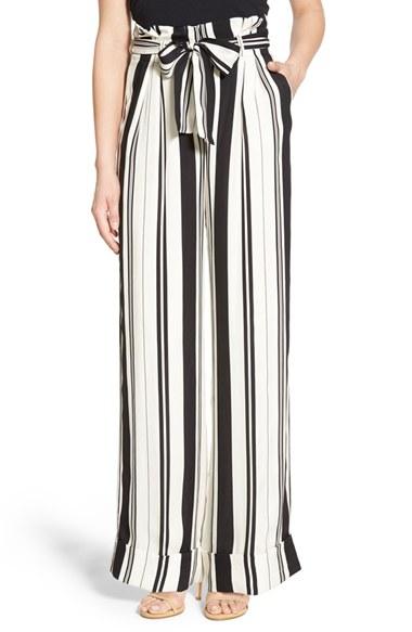 Olivia Palermo   Chelsea28 Stripe Wide Leg Pants | Nordstrom