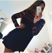 dress,black,flowers,summer,pretty,cute,cute dress,floral dress,sexy dress,lace,short dress,winter outfits,black lace so cute dress,black dress,sexy,lace dress,little black dress,summer dress