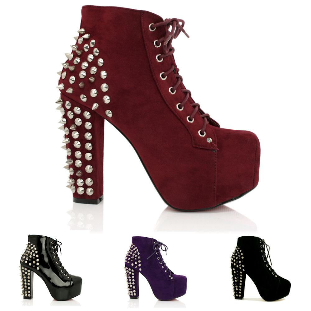 neu damen stiefeletten ankle boots schuhe blockabsatz plateau schn r gr 36 41 ebay. Black Bedroom Furniture Sets. Home Design Ideas