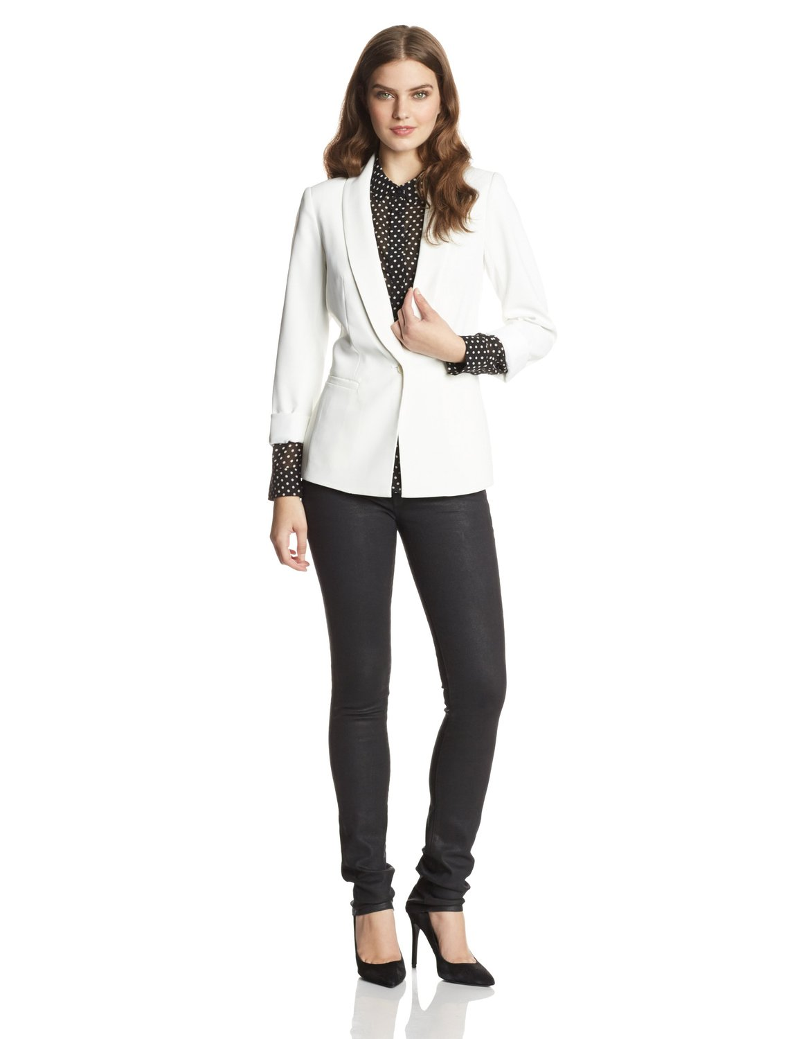 Trina turk women's alexa crepe blazer at amazon women's clothing store: