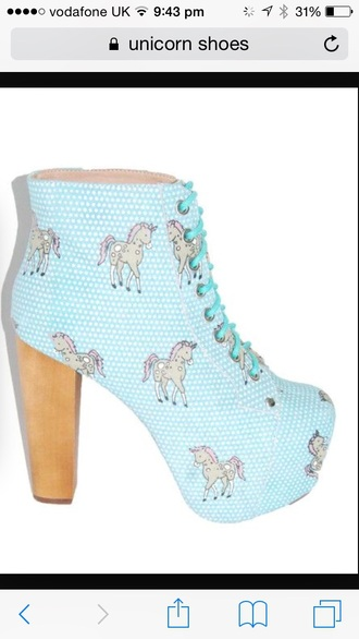 shoes baby blue heel boots unicorn platform lace up boots