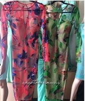 floral dress,green dress,see through dress,bodycon dress,nude,sweetheart dress,long sleeve dress,sexy dress