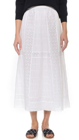 skirt long skirt long white