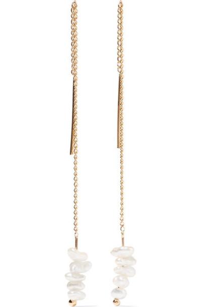 Melissa Joy Manning pearl earrings pearl earrings gold jewels