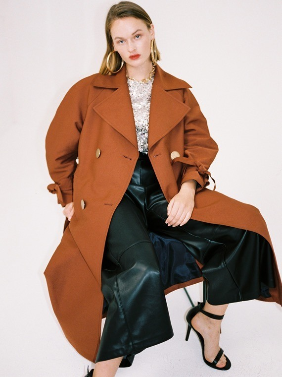 brick oversized trench coat