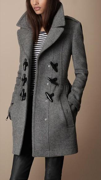 duffle coat grey coat burberry