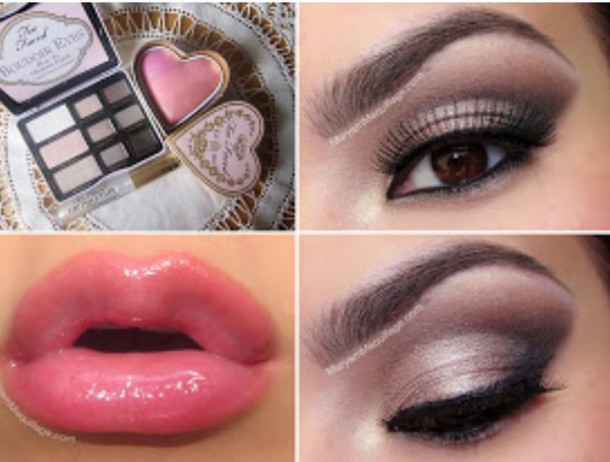 make-up lipstick eye shadow