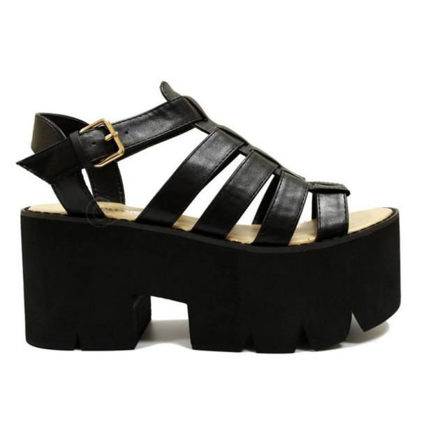 bc9a6e4fedd shoes sandals black sandals heel heel sandals vinatge flatforms flatform  sandals cleated sole
