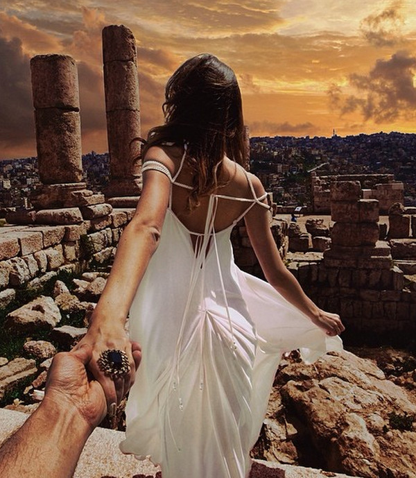 dress white dress backless dress romantic dress Murad Osmann