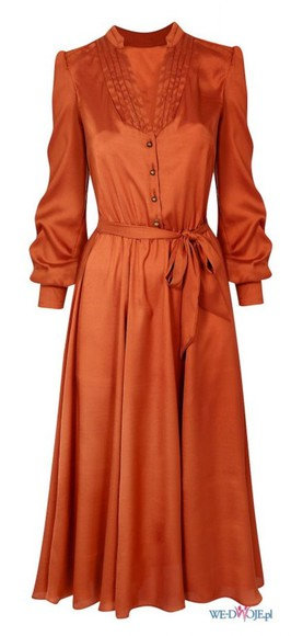 dress orange orange dress red wallis retro vintage