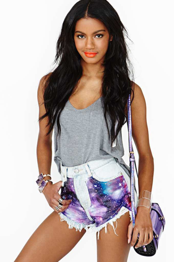 UNIF Space Out Cutoff Shorts in  Clothes Sale at Nasty Gal