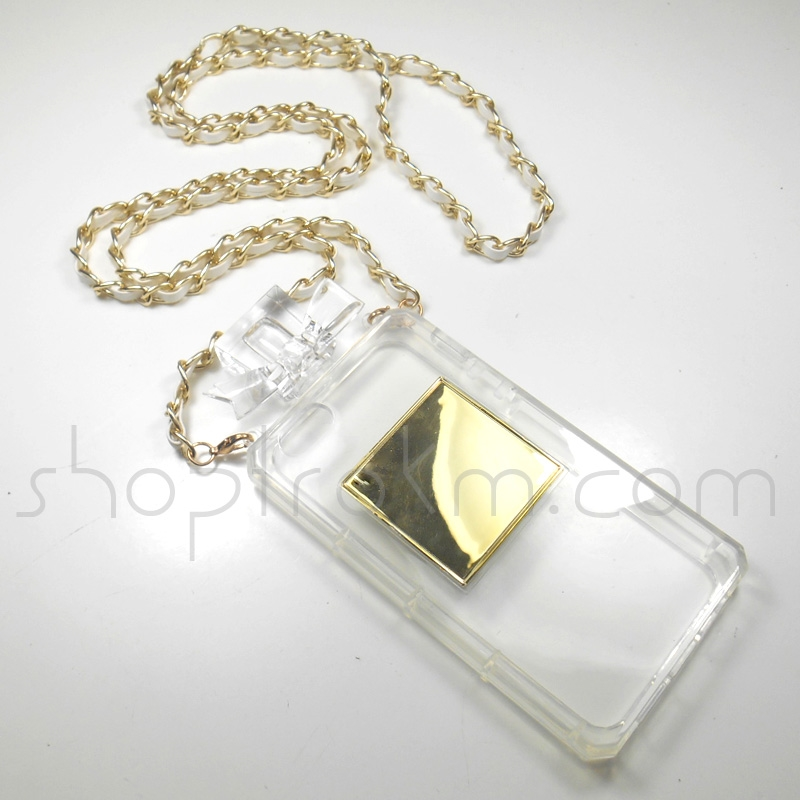 Spray Of Glamorous Clear iPhone 5 5S Tough Rubber Perfume Phone Case With Crossbody