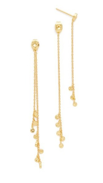 mini earrings gold jewels