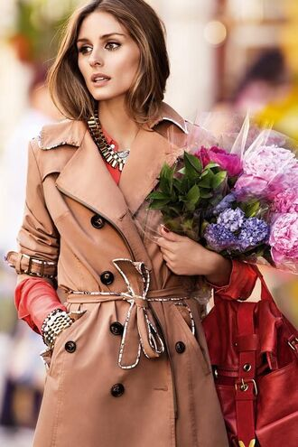 coat bag olivia palermo trench coat