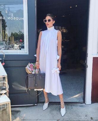 dress midi dress pumps olivia culpo white white dress sunglasses instagram