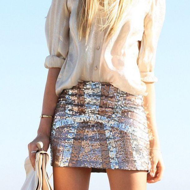 skirt sequins blouse design light shiny pink glitter girly silver lines sparkle