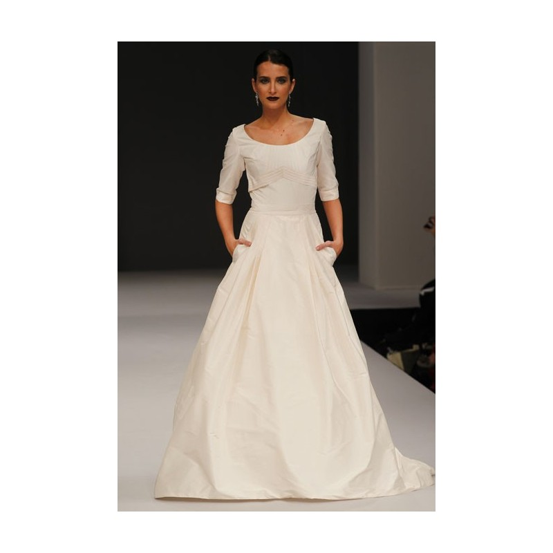 Anne Barge - Fall 2012 - Blair Silk Taffeta A-Line Wedding Dress ...