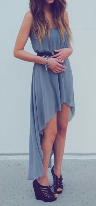 dress gray maxi dress hi-low dress sexy dress neautral greek goddess slit maxi skirt
