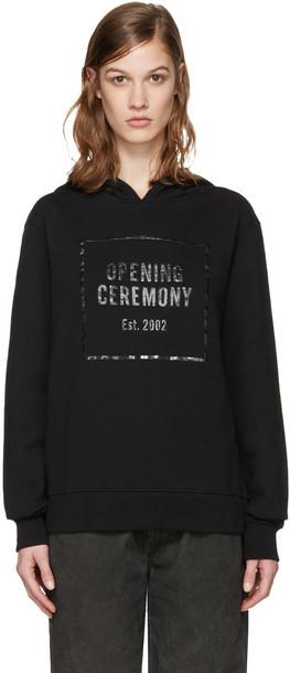 opening ceremony hoodie black sweater