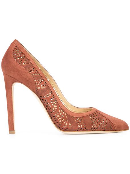 CHLOE GOSSELIN women pumps leather suede brown shoes
