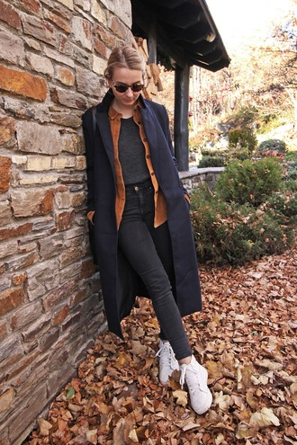 jane's sneak peak blogger coat shirt top jeans bag shoes sunglasses