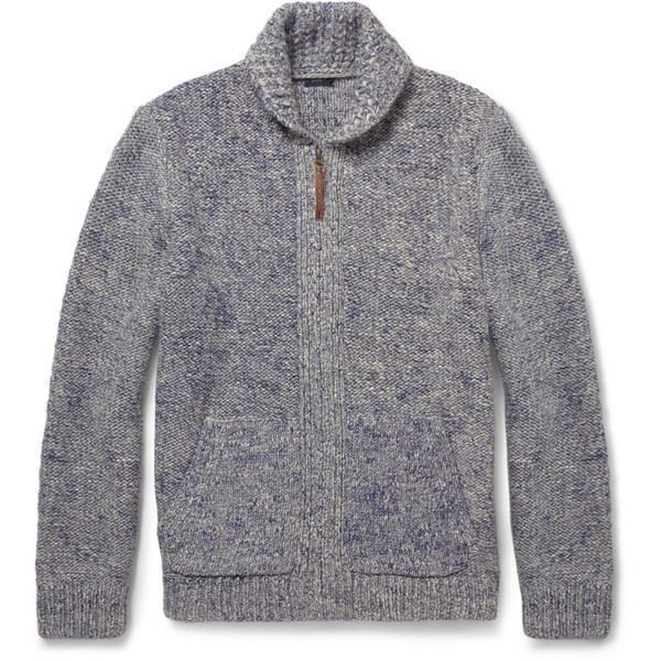 J.Crew Chunky Wool-Blend Zipped Cardigan - Polyvore