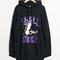 & other stories   pearl oyster hoodie   black