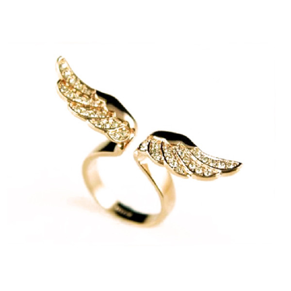 jewels ring wing angel women girl cute style