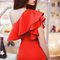 Women's smart party gorgeous frill bodycon mini dress