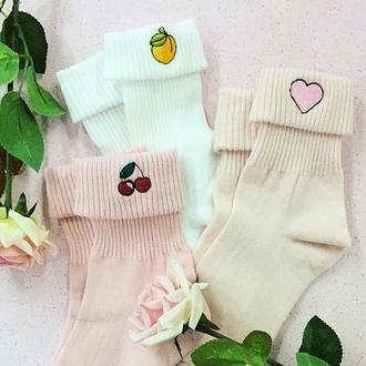 socks yeah bunny pink pastel heart heartsocks