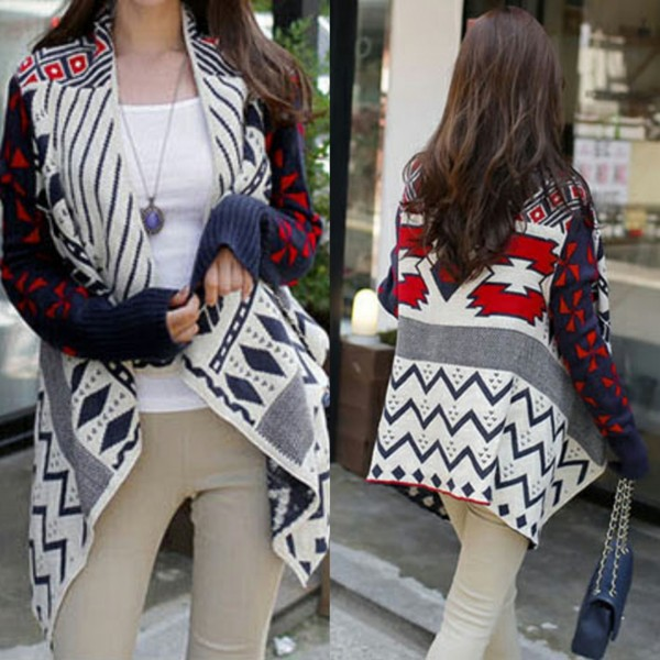 sweater i4out cardigan aztec jacket coat jumper cape clothes lookbook clothes fashion swag streetstyle pants bag hair
