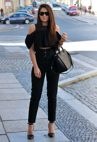 jeans high waisted jeans fashion blogger blogger black jeans black pants high waisted pants double belt michael kors pants top straight pants