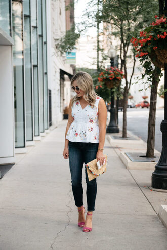 bows&sequins blogger bag jewels sunglasses make-up clutch sandals skinny jeans fall outfits