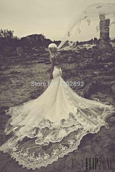 one shoulder aliexpress.com wedding dress 2015 applique bridal dress long train wedding dress