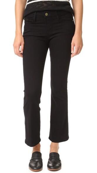 jeans mini cropped noir