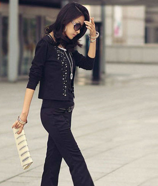 Cozy women clothes Shawl Coat Comfortable leisure slim Wild suit Ms. jacket lady blazers black white s1023 | Amazing Shoes UK