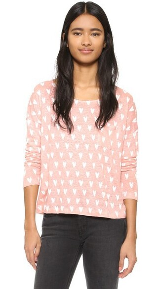 heart long pastel print pink pastel pink top