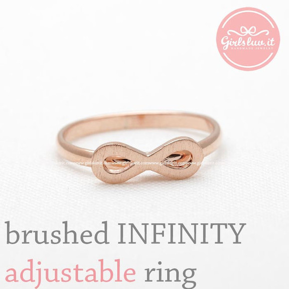 jewels jewelry infinity ring forever infinite ring adjustable ring anniversary ring 8 ringf love ring