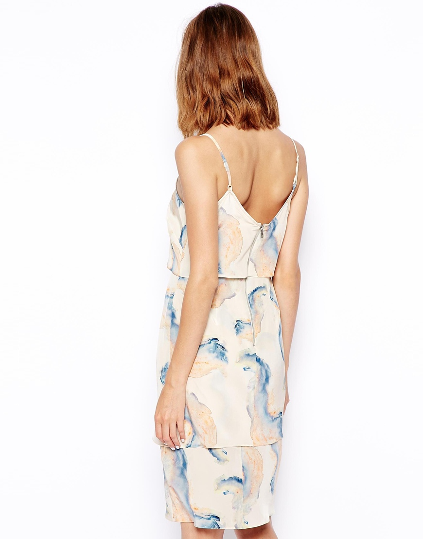 ASOS WHITE Silk Layered Cami Dress at asos.com