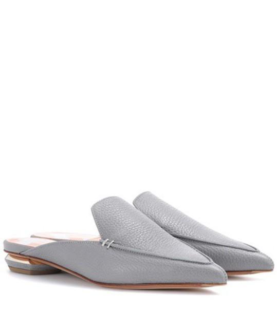 Nicholas Kirkwood mules leather grey shoes