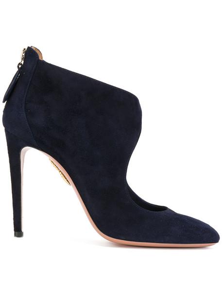 Aquazzura women leather blue shoes