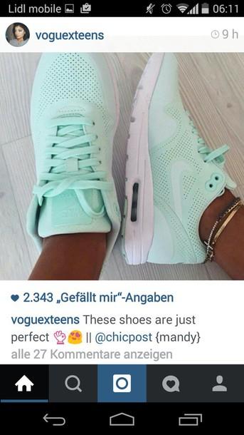 shoes nike blue aqua aquablue