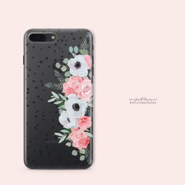 Milkyway Cases CLEAR TPU CASE COVER - ANEMONE ROSE