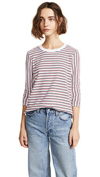 Liana Clothing navy white red top