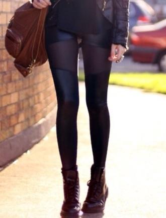 leggings black sheer