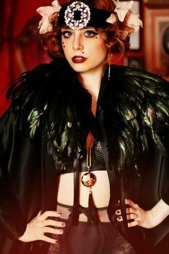 t-shirt jewels jacket miss pandora 1930's charleston plum