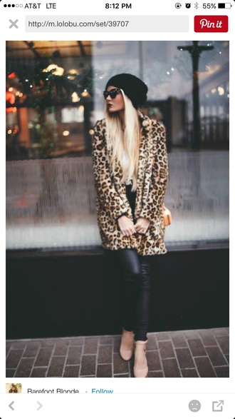 coat leopard print leopard print coat winter coat long coat faux fur